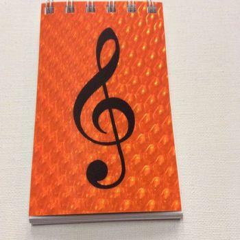 Notitieboekje - Oranje - 7,5 x 12 cm