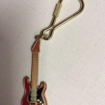 Sleutelhanger - gitaar - rode Stratocaster