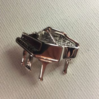 Pin - Vleugelpiano - verzilverd, reliëf