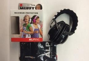 Gehoorbescherming - Alpine Muffy - zwart/wit