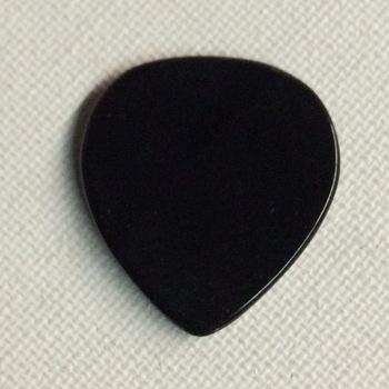 Agaat - ergonomische stenen plectrum - zwart
