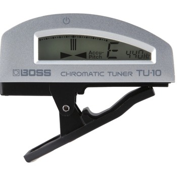 Boss TU-10 clip-on tuner - zilver
