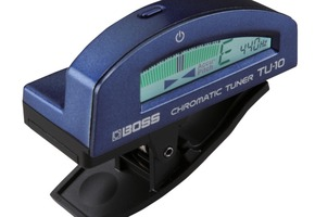 Boss TU-10 clip-on tuner - blauw