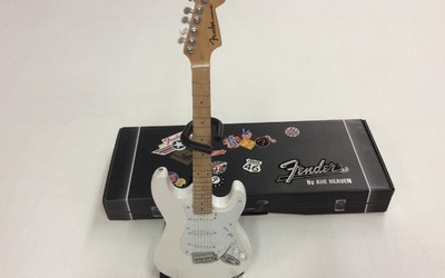 Miniatuurgitaar - Fender Strat - Olympic White