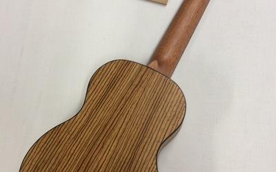 Ukelele - Mahalo - Exotisch Zebrano hout