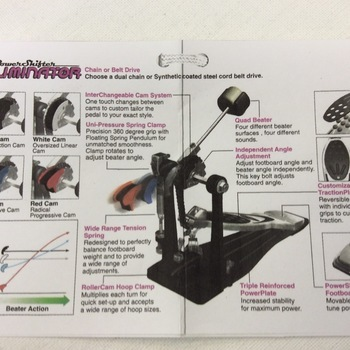 OUTLET - Pearl set voor Power Shifter drumpedalen