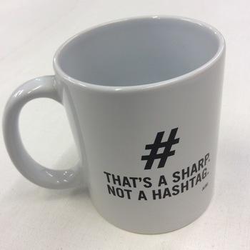 Mug - That's a sharp, not a hashtag